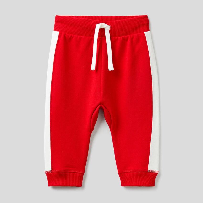 Pantalon en molleton de coton bio stretch