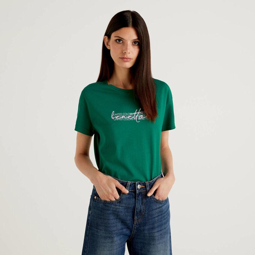 T-shirt 100% coton bio avec imprimé logo