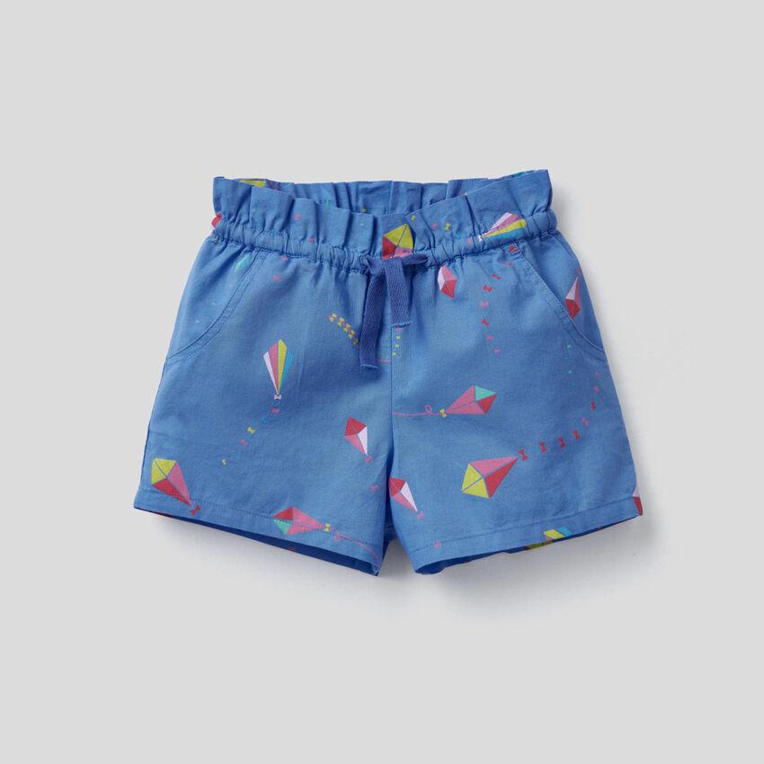 Shorts fantasia in 100% cotone