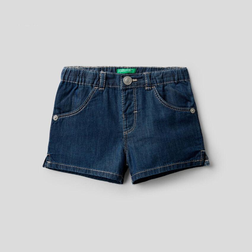Shorts in tessuto chambray