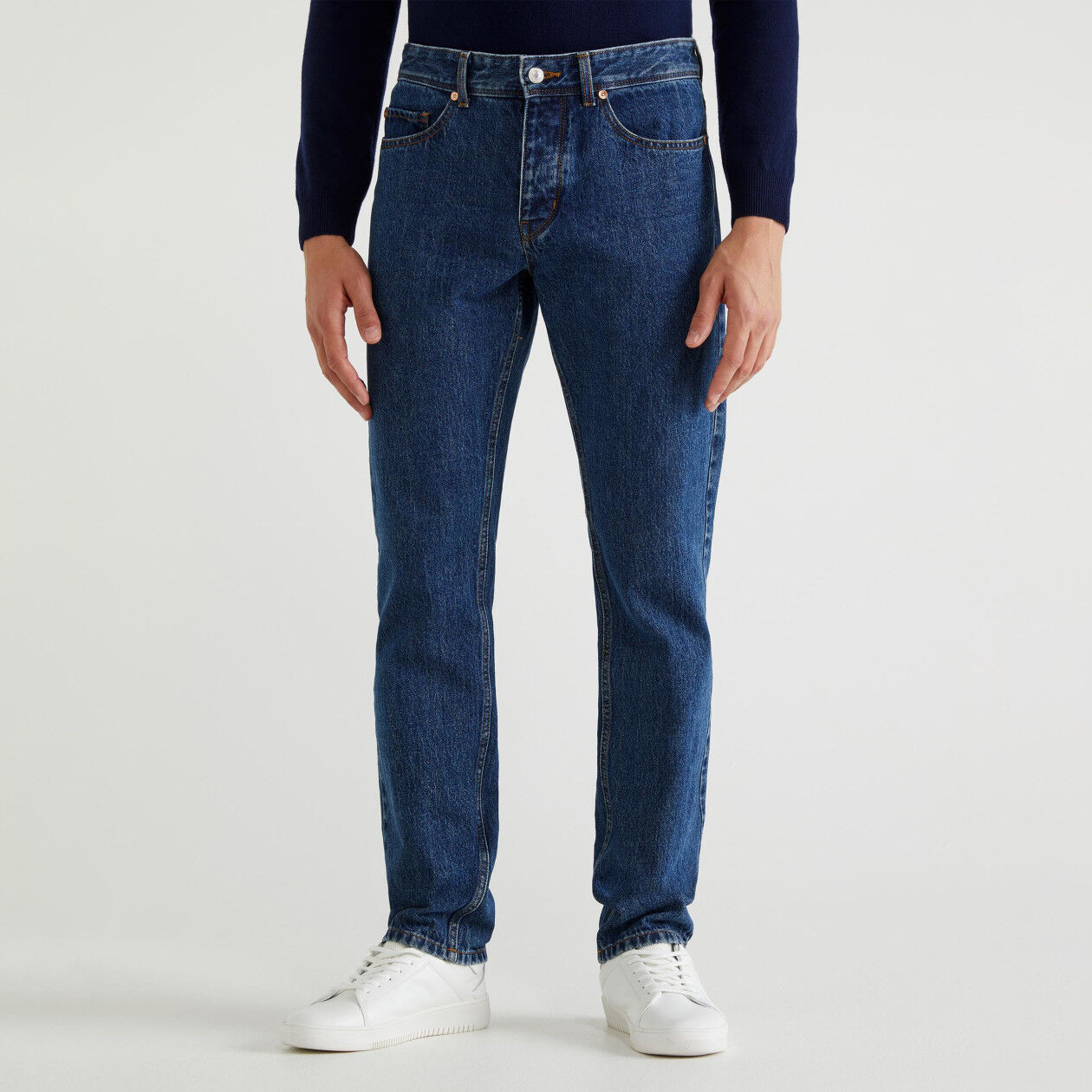 Jeans straight cinq poches