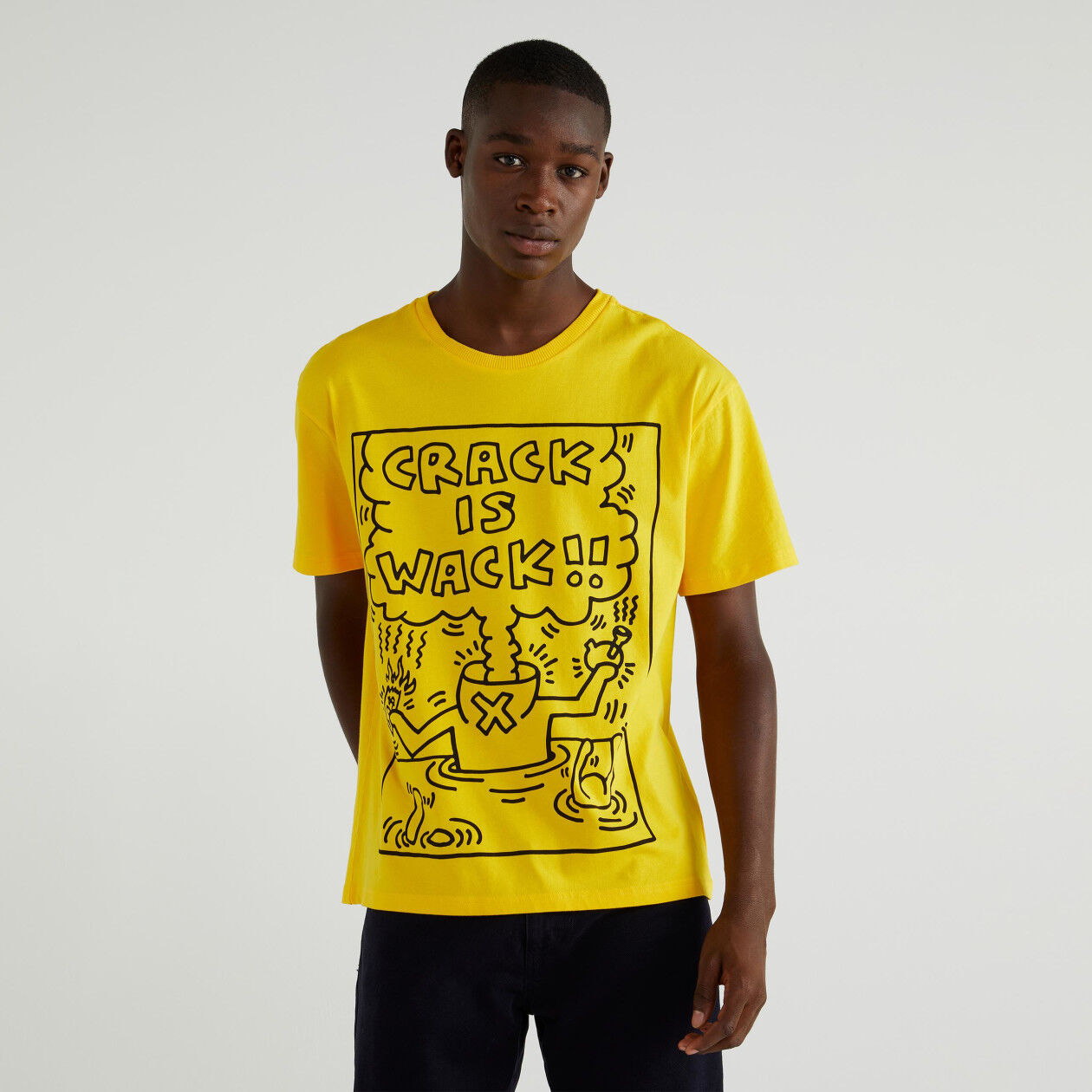 """T-shirt con stampa """"Keith Haring"""""""
