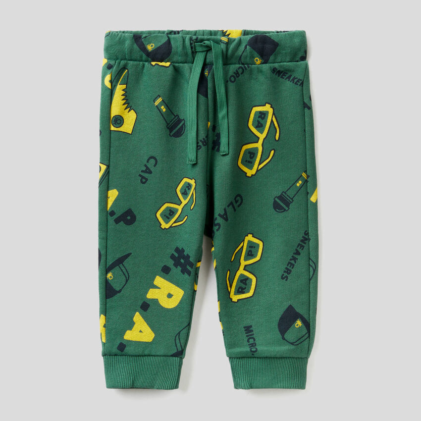 Pantalon à motifs en molleton