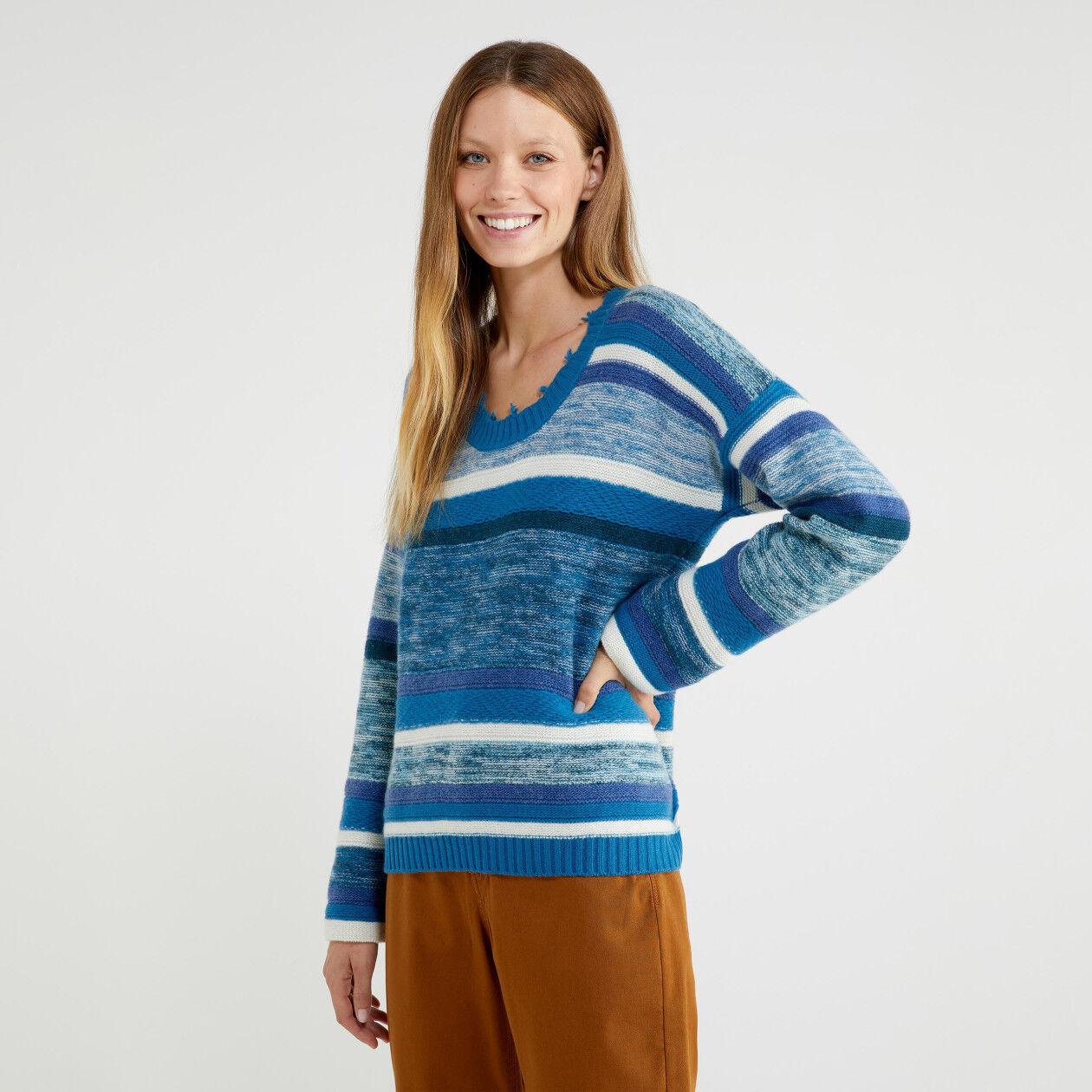 Jacquard-Pullover mit Streifen