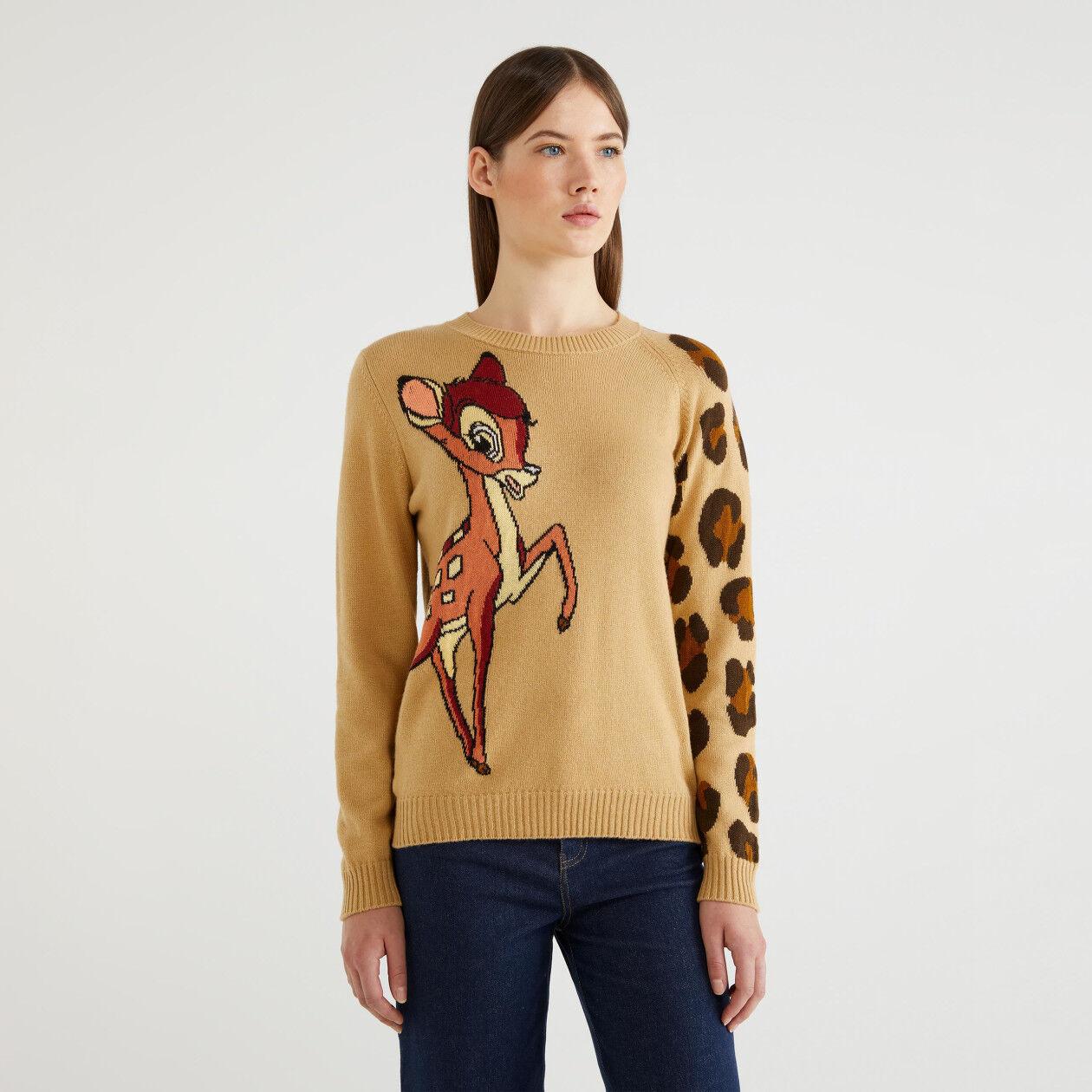 """Maglia con intarsio """"Bambi"""""""