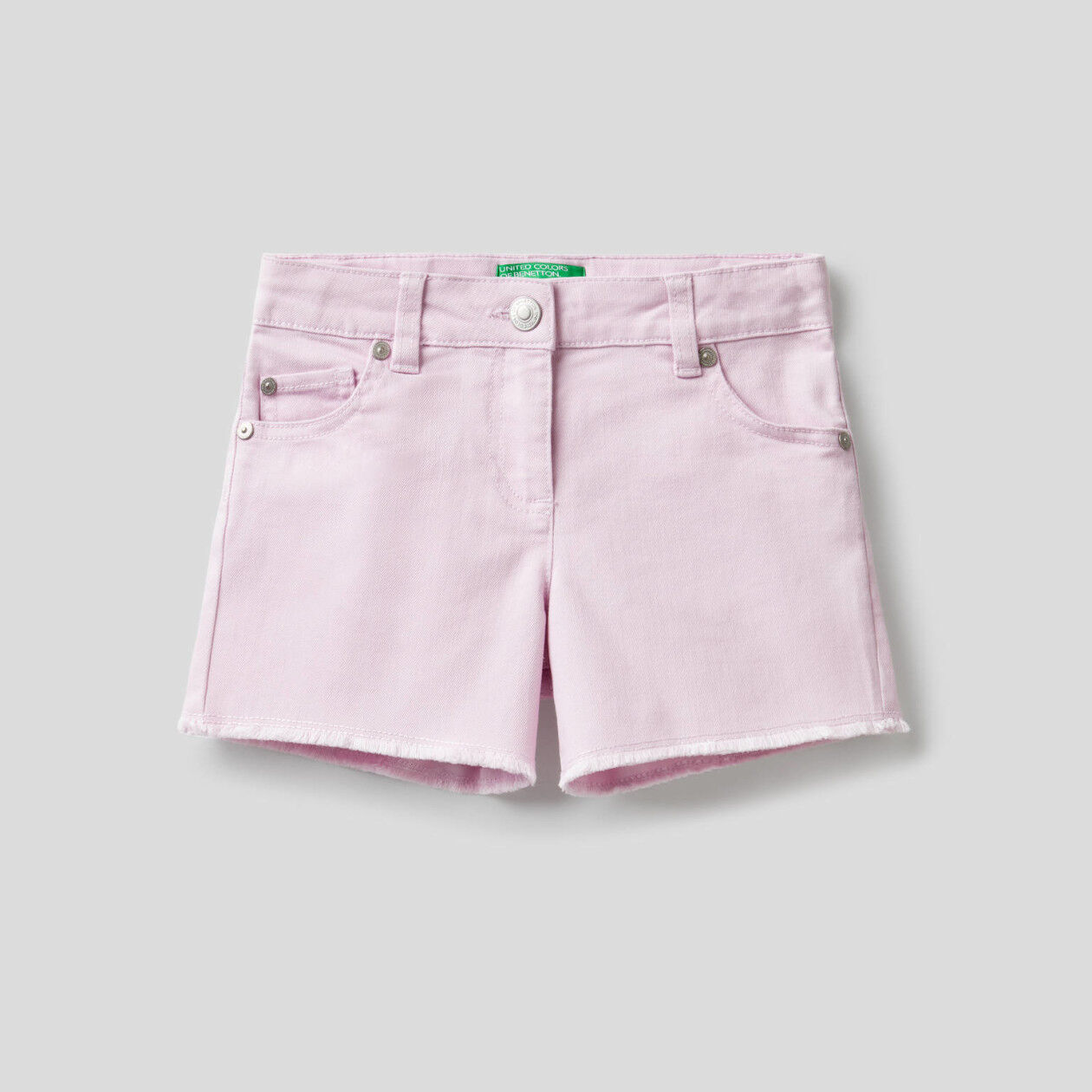 Shorts in misto cotone stretch