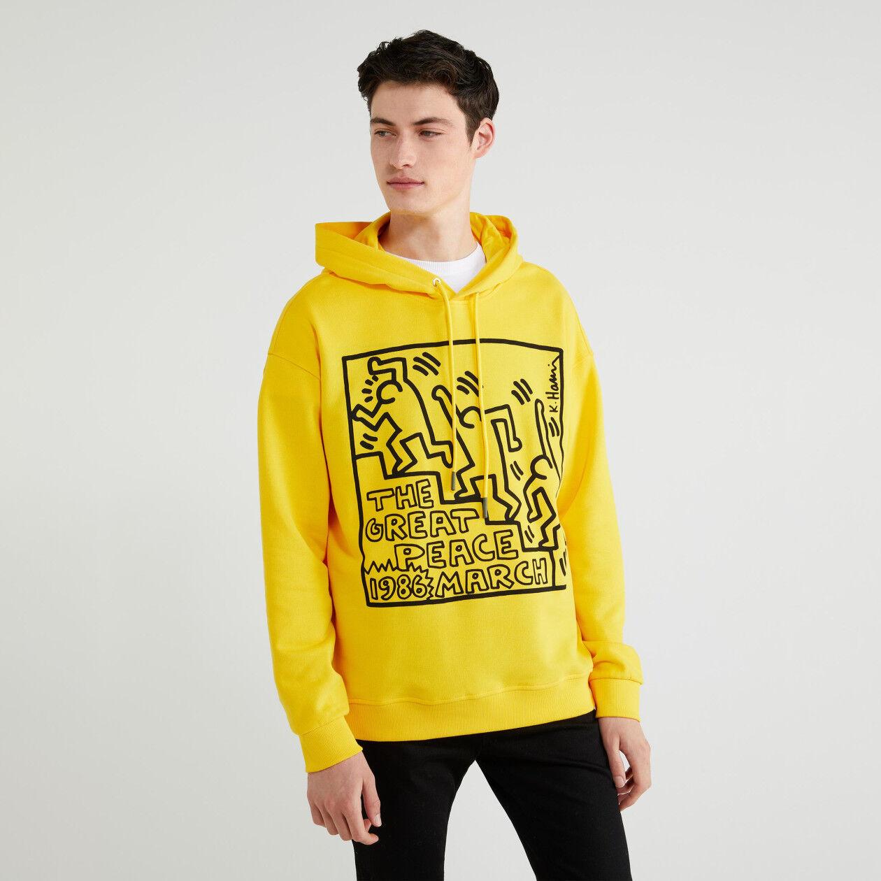 "Sweat ""Keith Haring"" avec capuche"