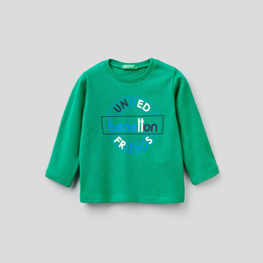 T-Shirt mit langen Ärmeln aus Bio-Baumwolle