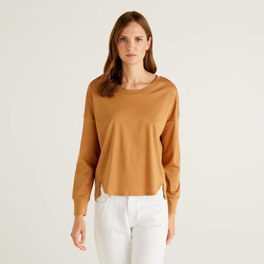 T-shirt manches longues en 100% coton