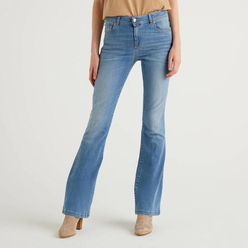Jeans stretch évasé