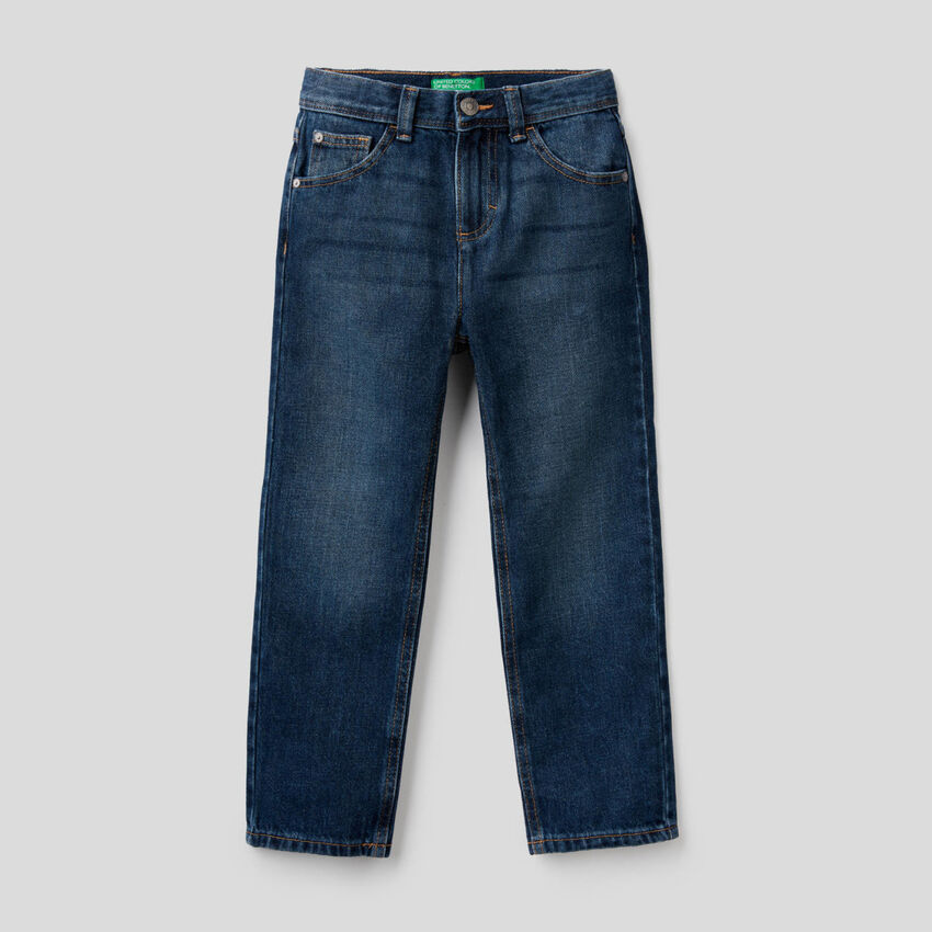 Jeans cinq poches coupe regular