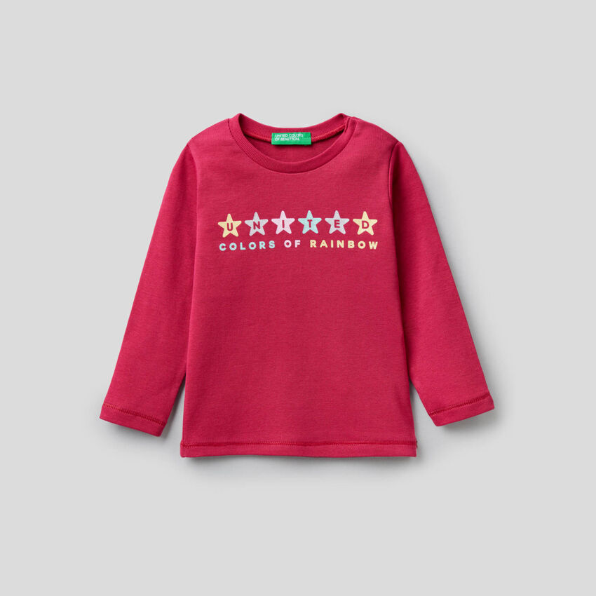 T-shirt manches longues 100% coton bio