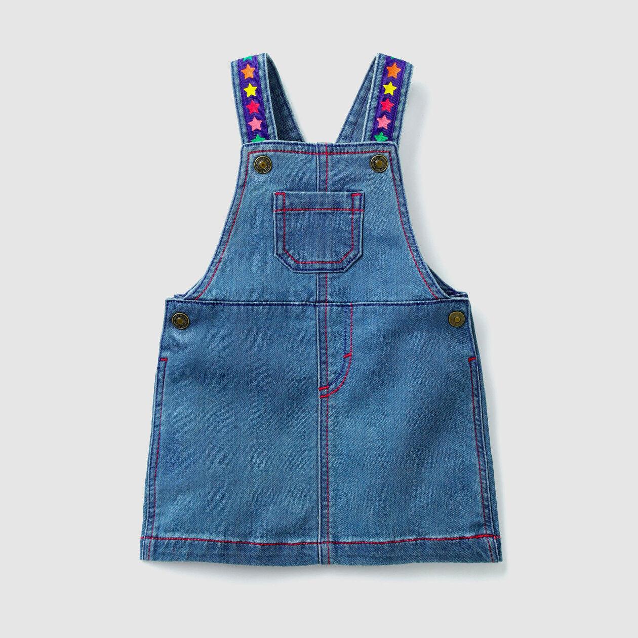 Jeans-Latzrock