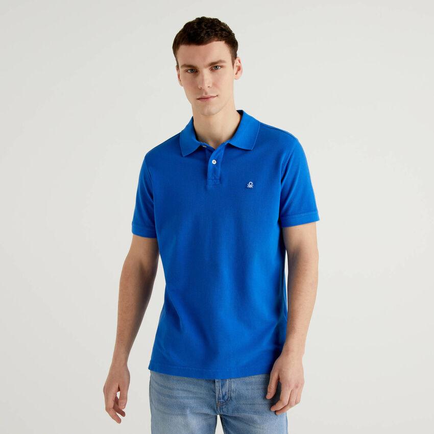 Regular-Fit-Polo in Bluette