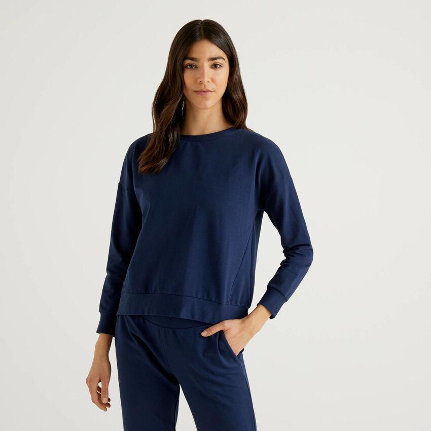Ausgestelltes Sweatshirt in stretchiger Baumwolle