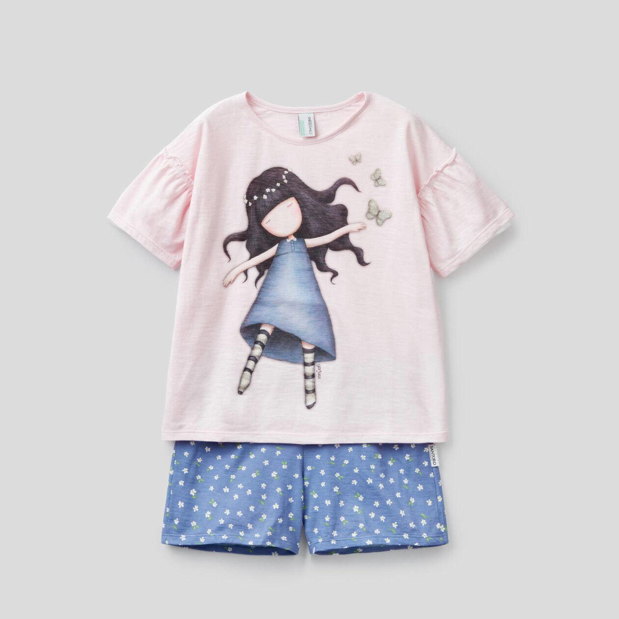 Short pyjamas with Gorjuss print