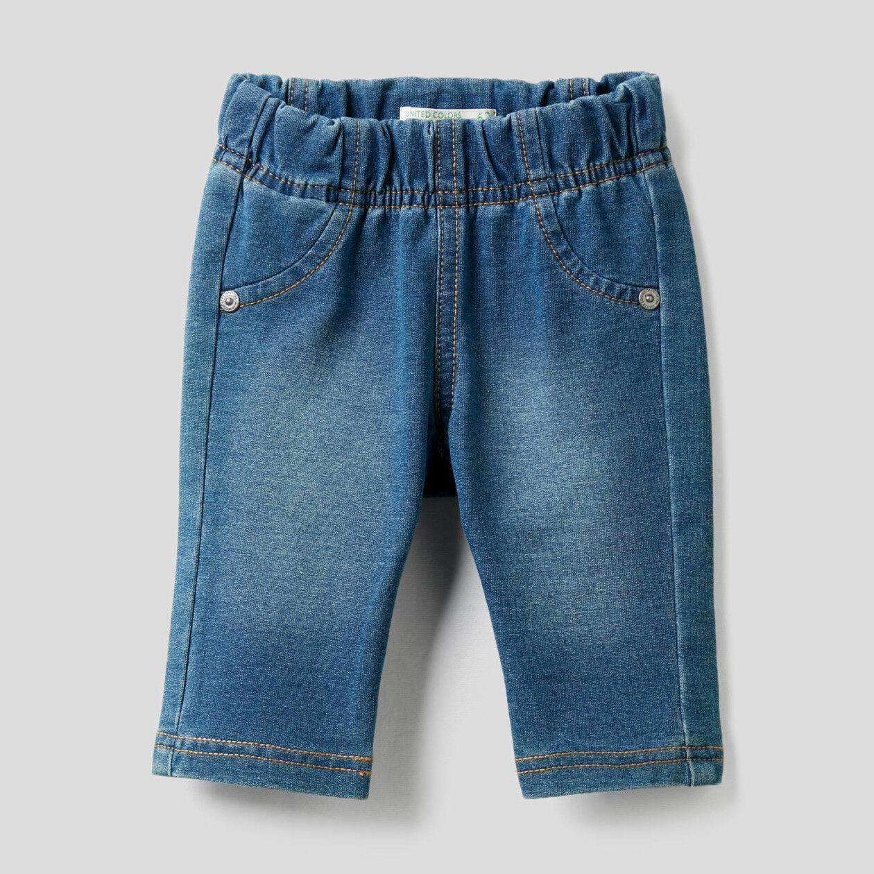 Pantalon effet denim