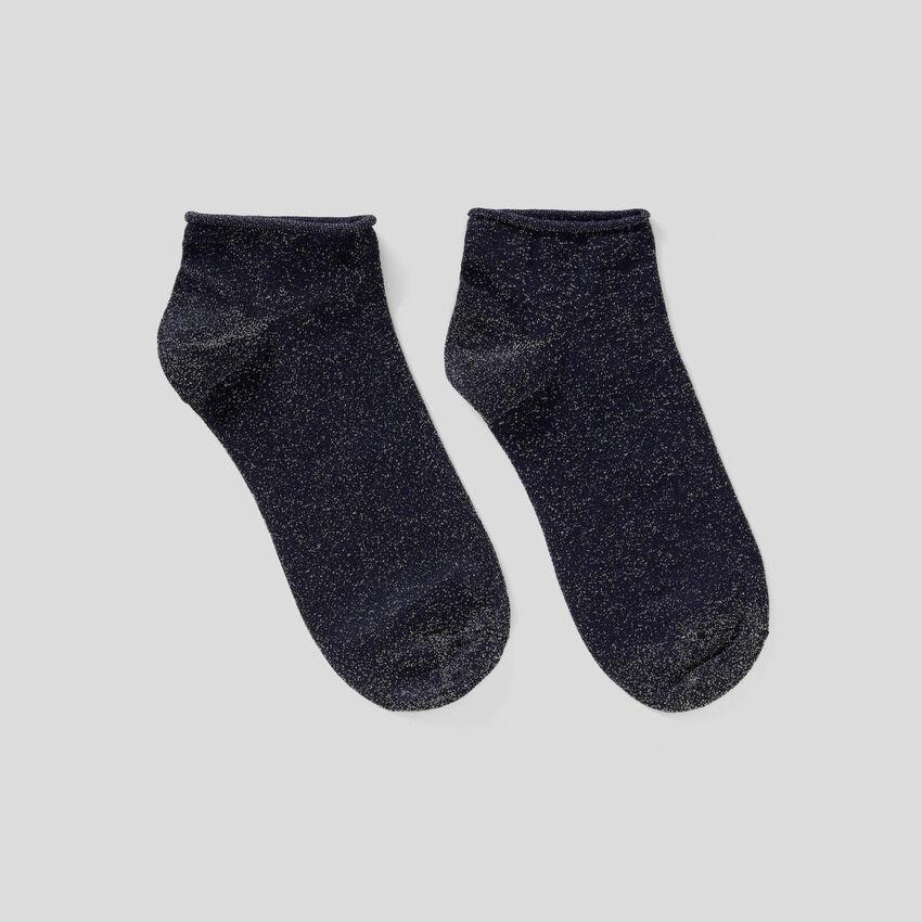 Kurze Socken mit Lurex