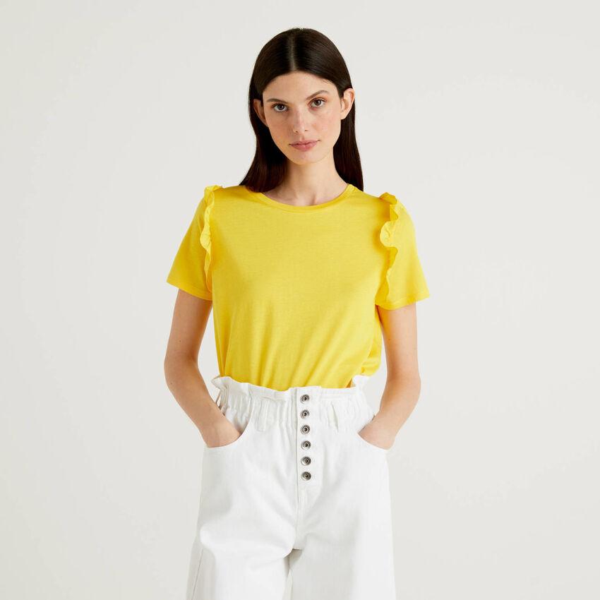 T-shirt 100% cotone con rouches