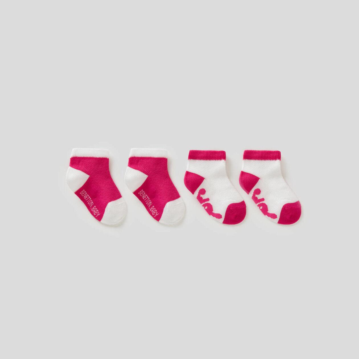 Zweifarbiges Socken-Set