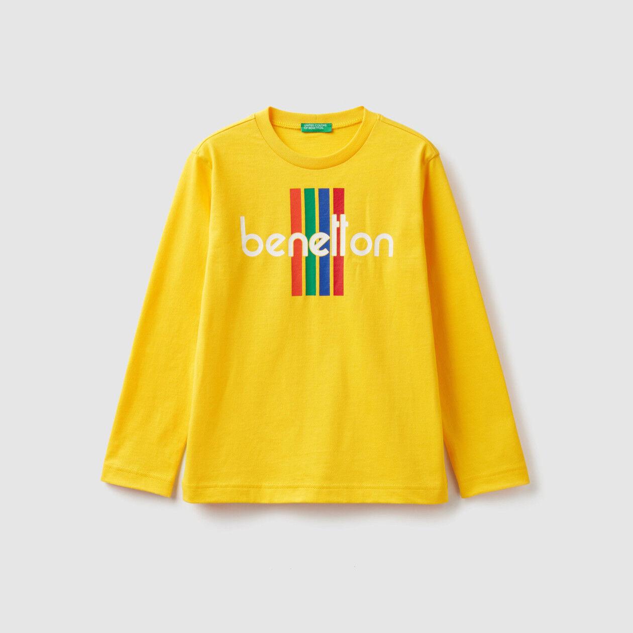 T-shirt manica lunga con logo