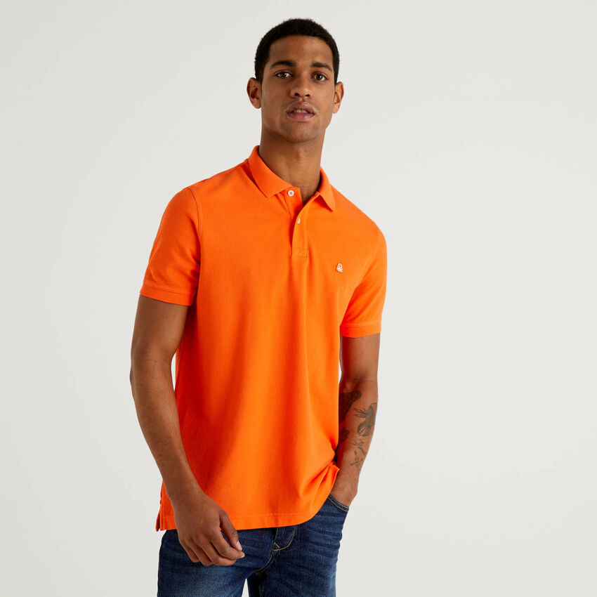 Polo regular fit arancione personalizzabile