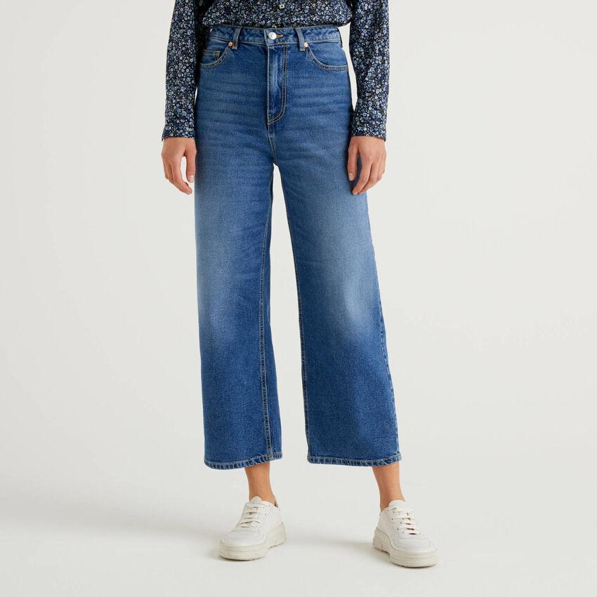 Jeans coupe mum en denim stretch