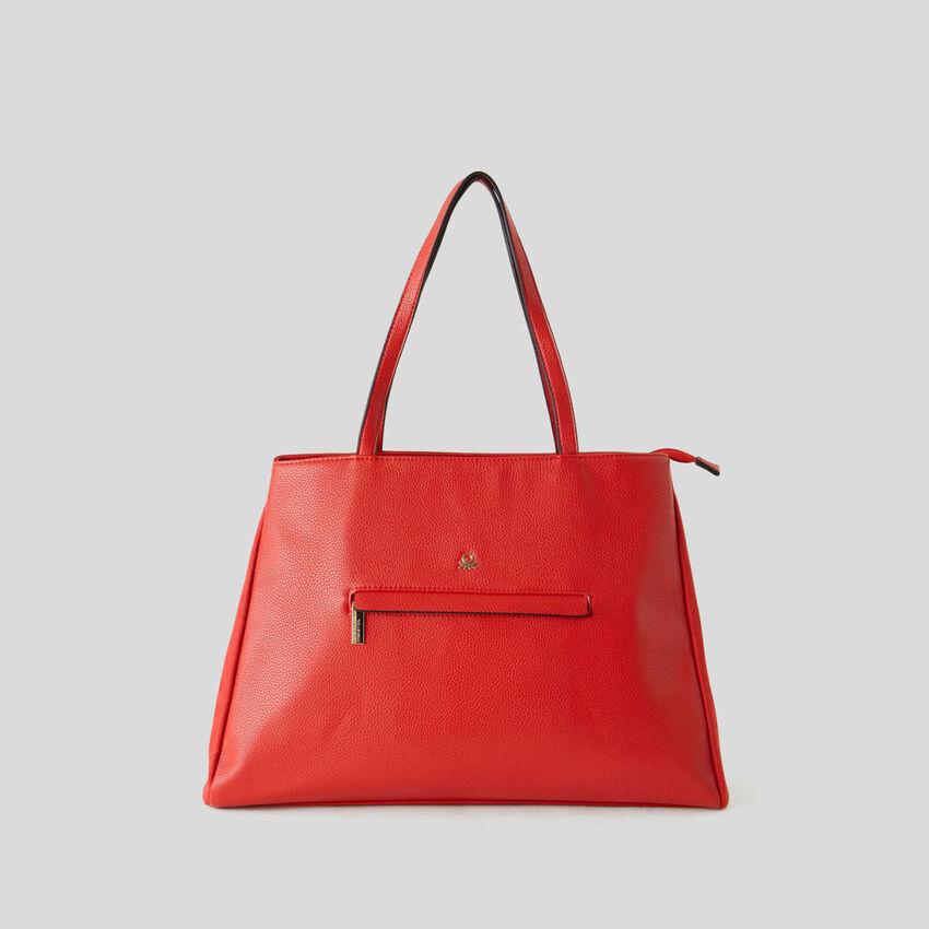 Shopping bag con doppio scomparto