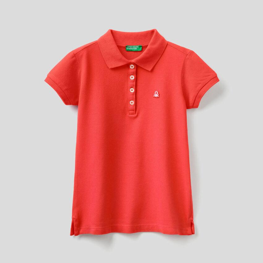 Polo in cotone stretch