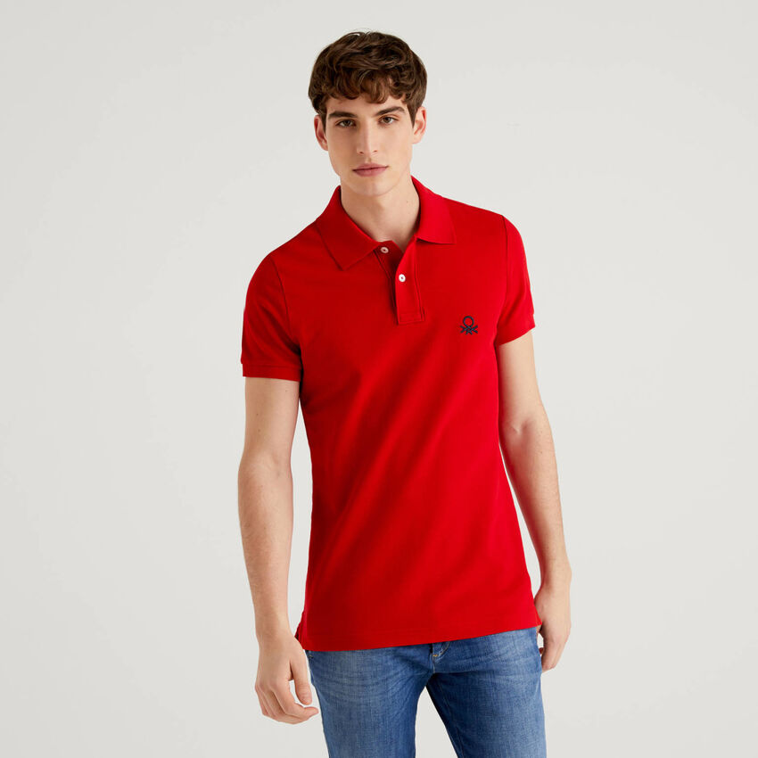 Polo slim fit rossa