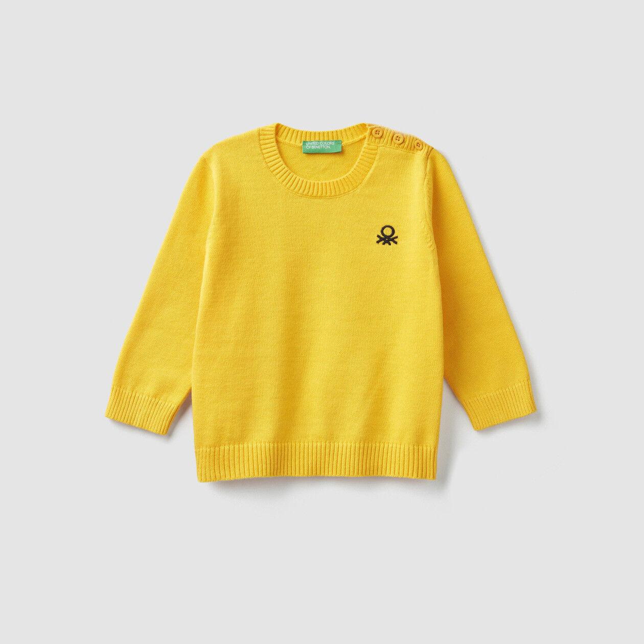 Pullover mit Logo und Knöpfen