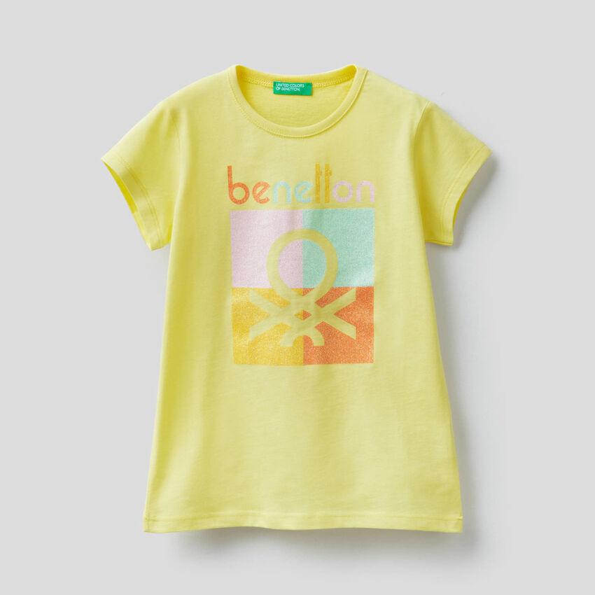 T-shirt en pur coton à imprimé