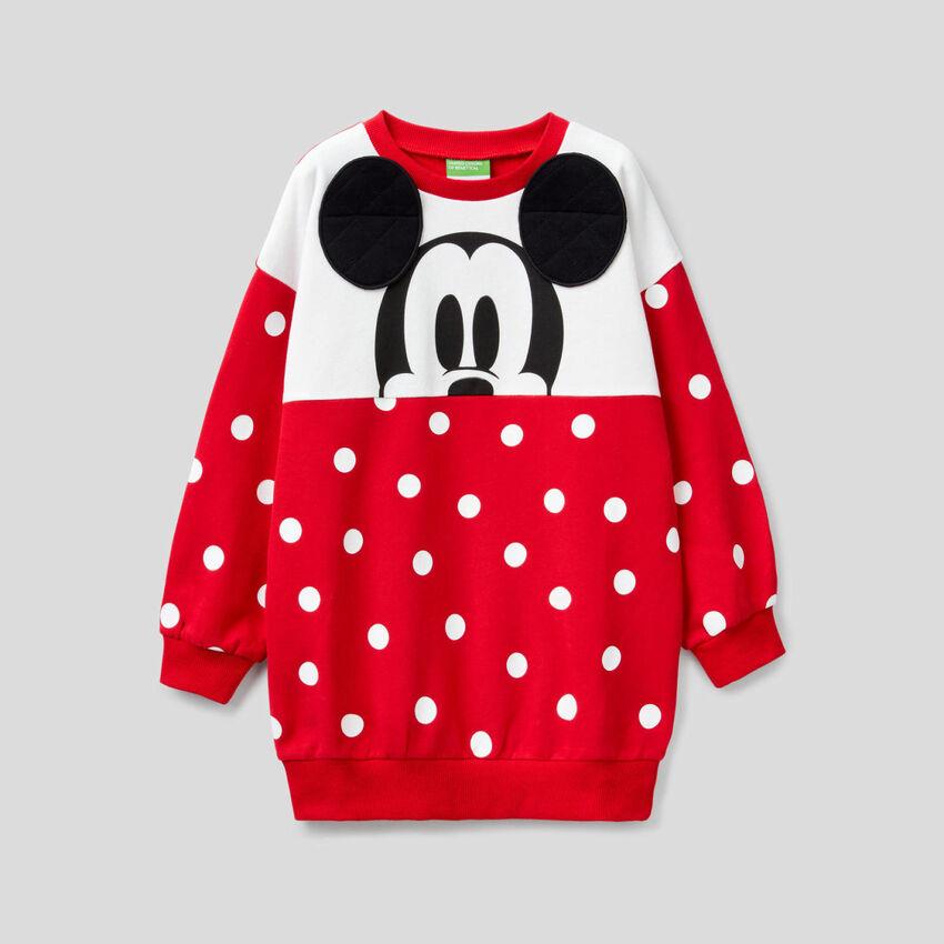 Micky Maus Maxi-Sweatshirt mit Punktemuster