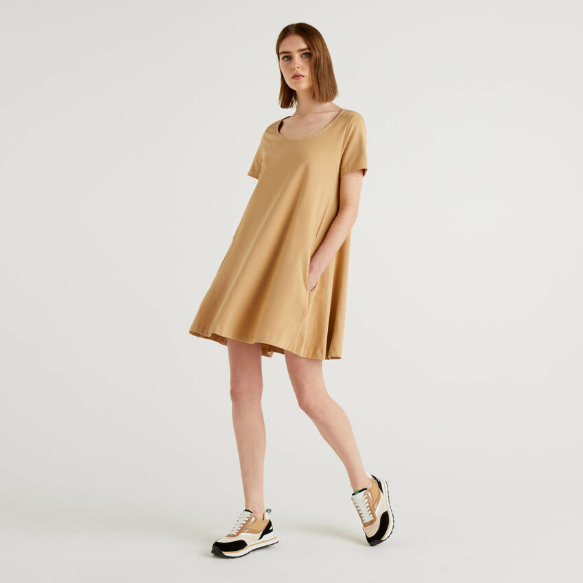 Robe en coton stretch