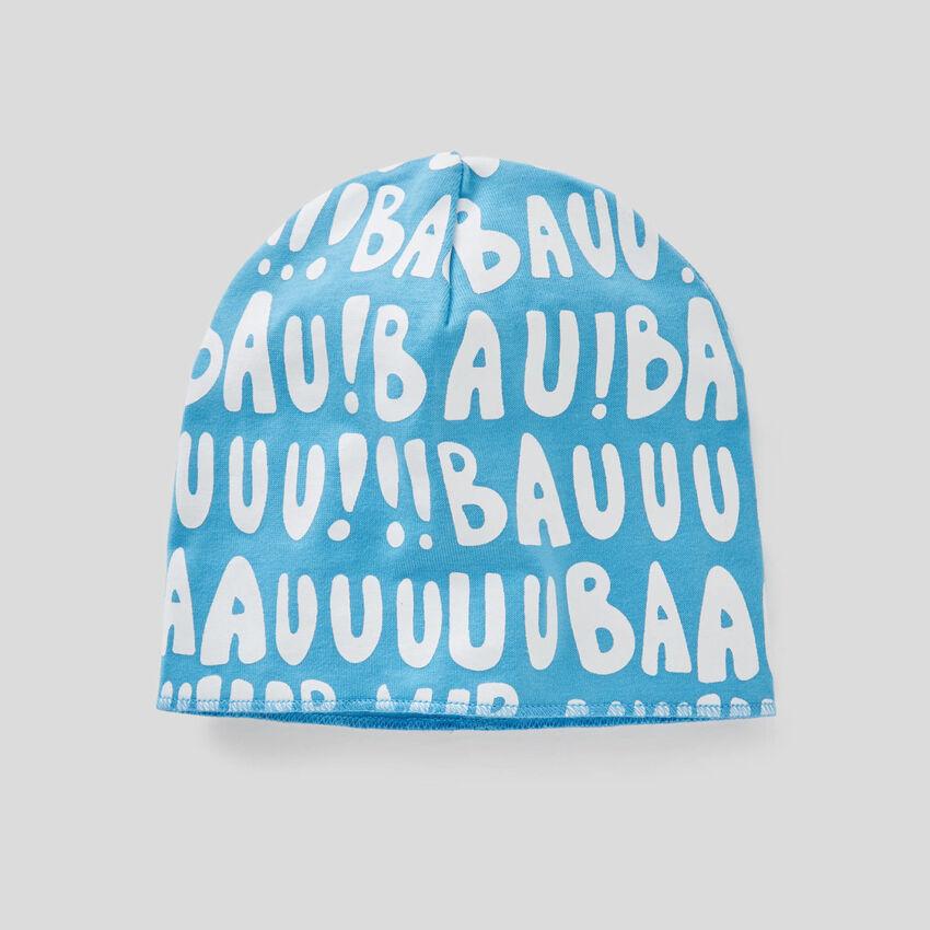 Bonnet imprimé en pur coton