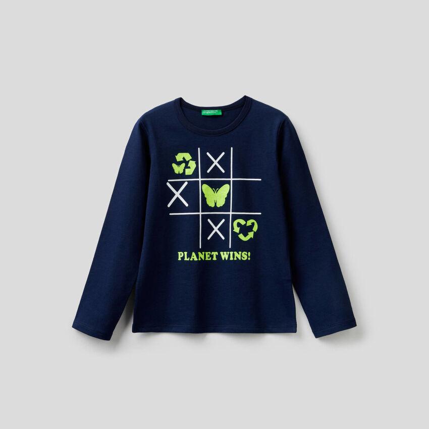 T-shirt stampata 100% cotone
