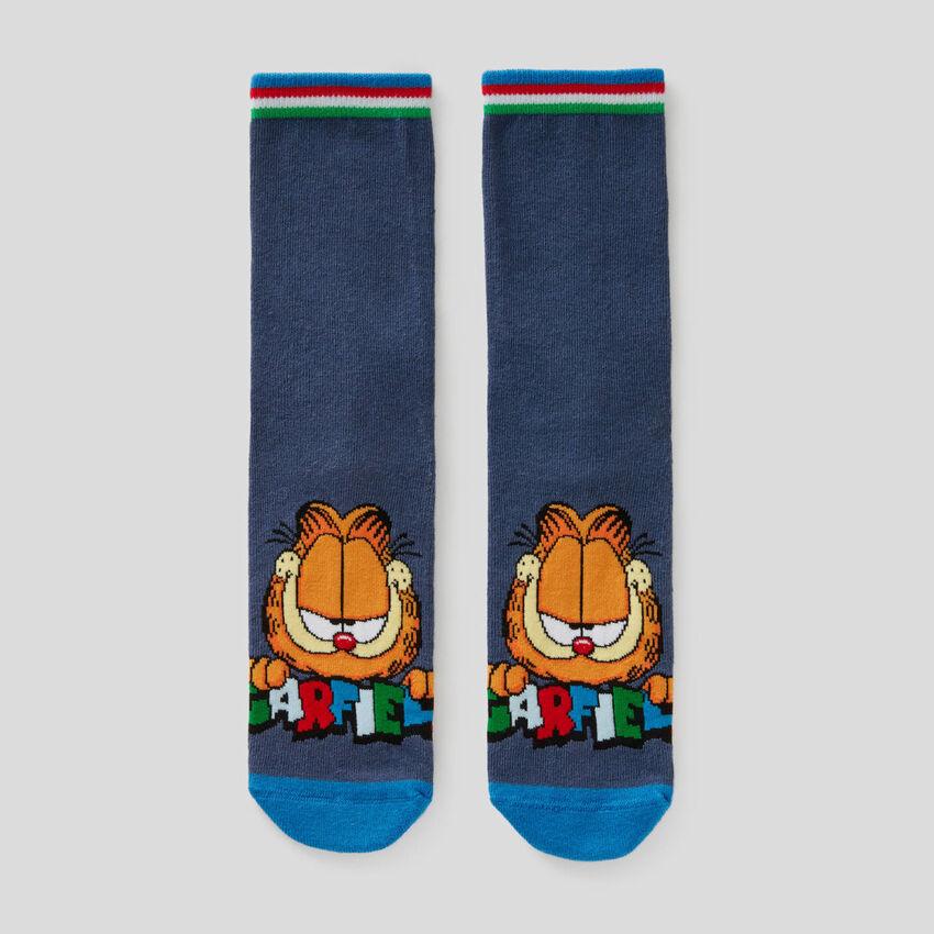 Calzini blu con grafica Garfield