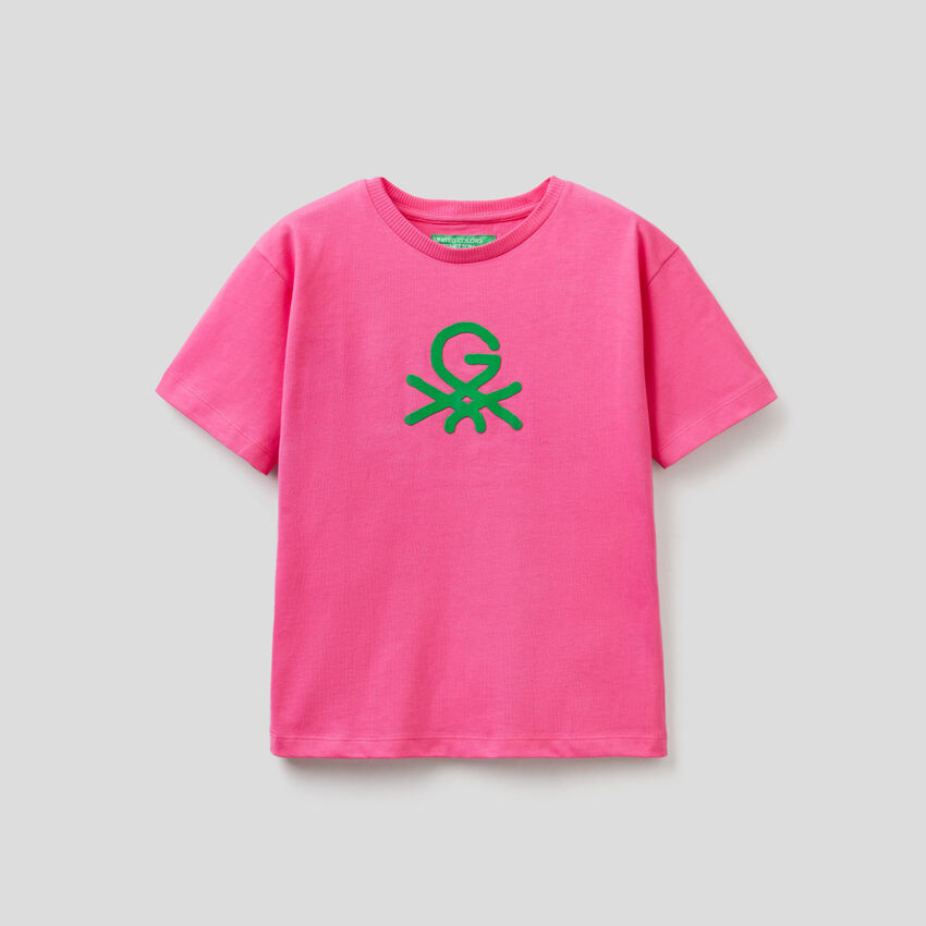 Unisex-T-Shirt in Fuchsia mit Print by Ghali