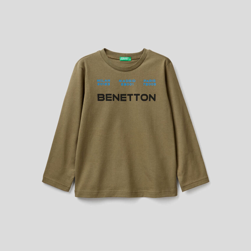 T-shirt manica lunga in cotone bio