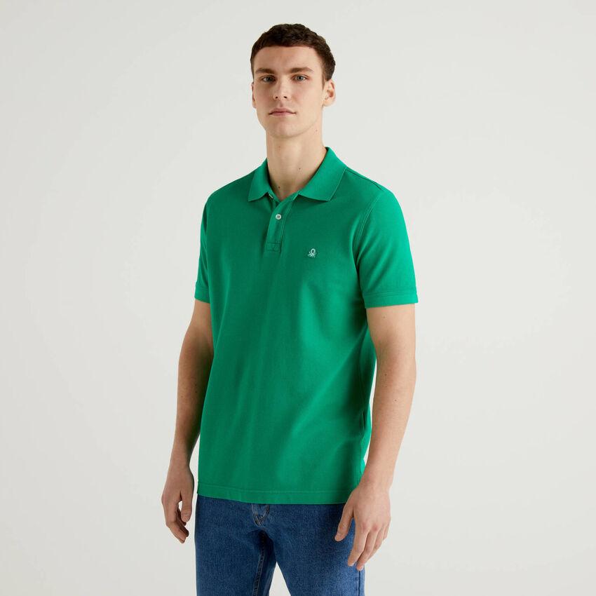 Polo vert coupe regular