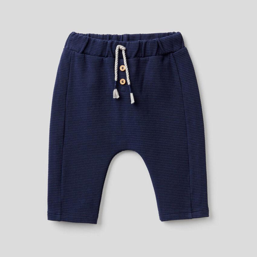 Pantaloni in cotone biologico stretch