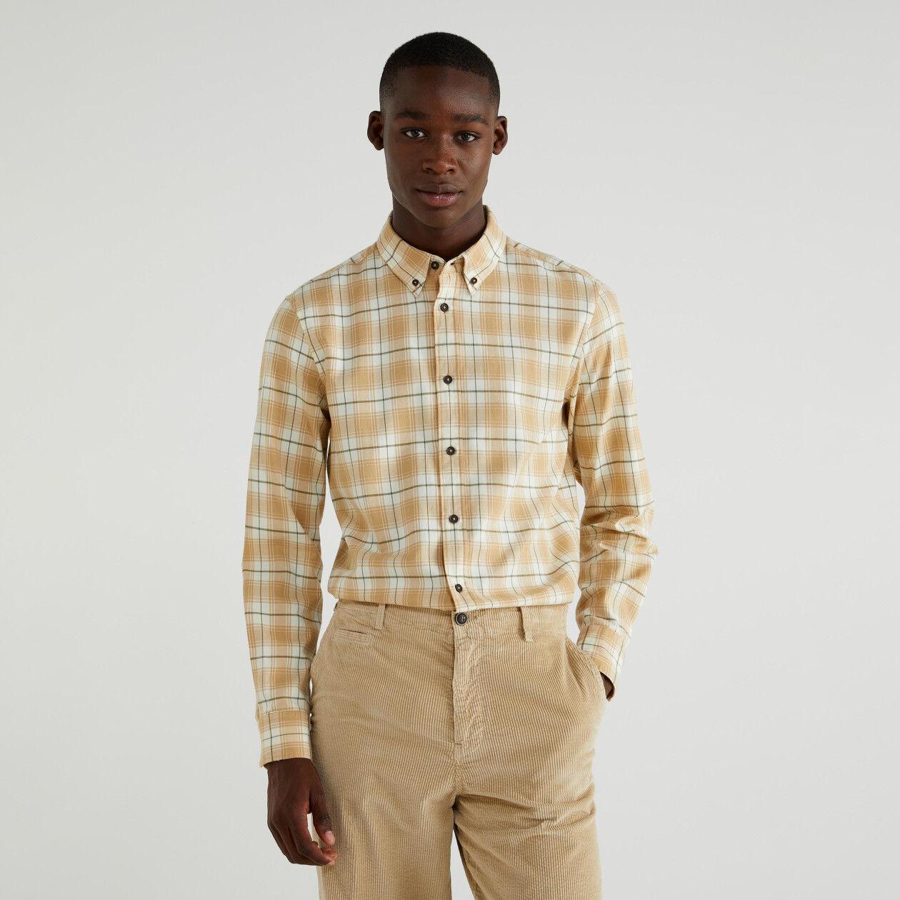 Chemise coupe slim à carreaux