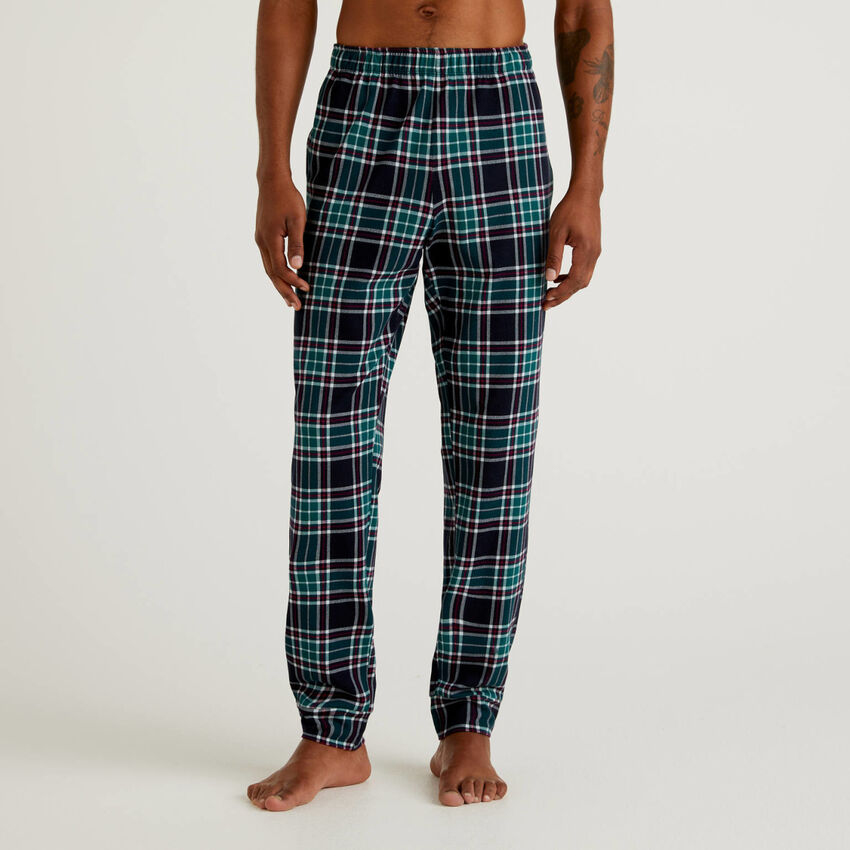 Pantaloni fantasia in 100% cotone