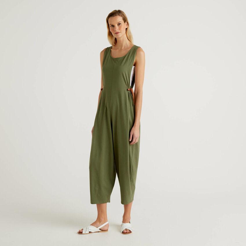 Combi-pantalon oversize sans manches