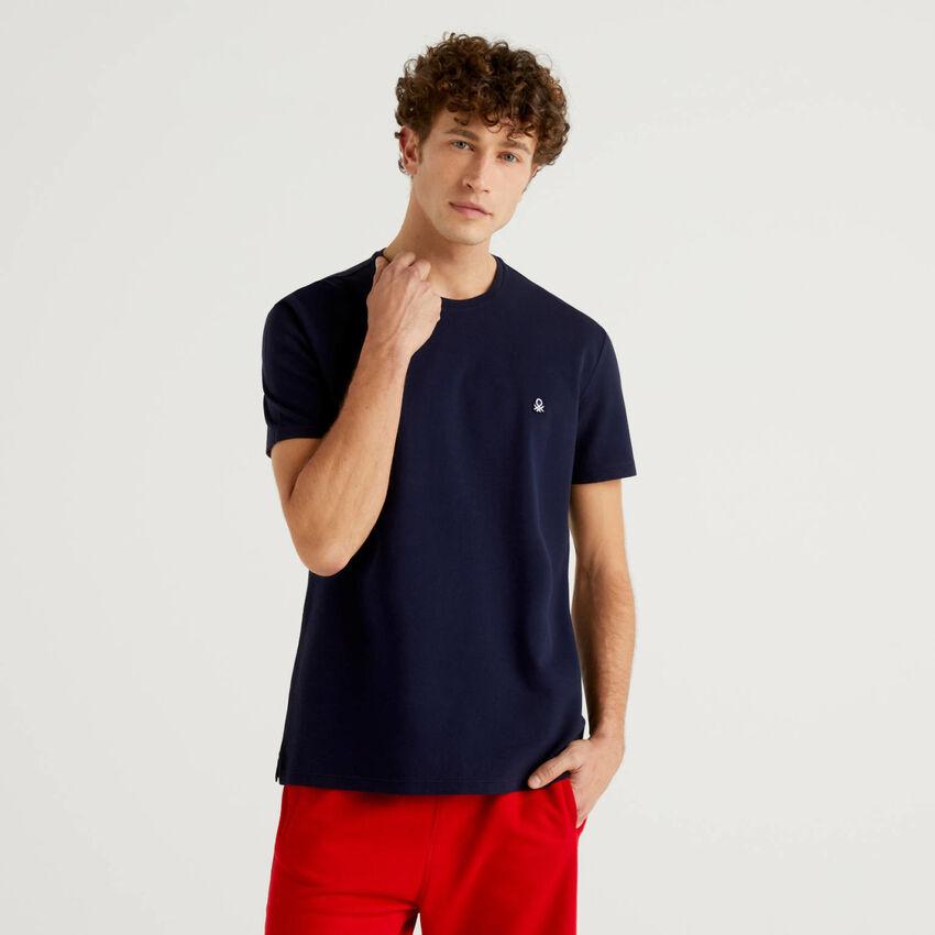 T-Shirt aus 100% Piquet-Baumwolle