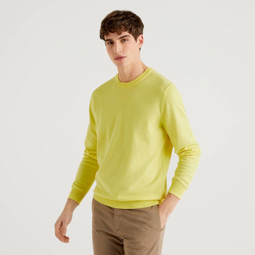 Pullover mit Rundausschnitt aus 100% Baumwolle