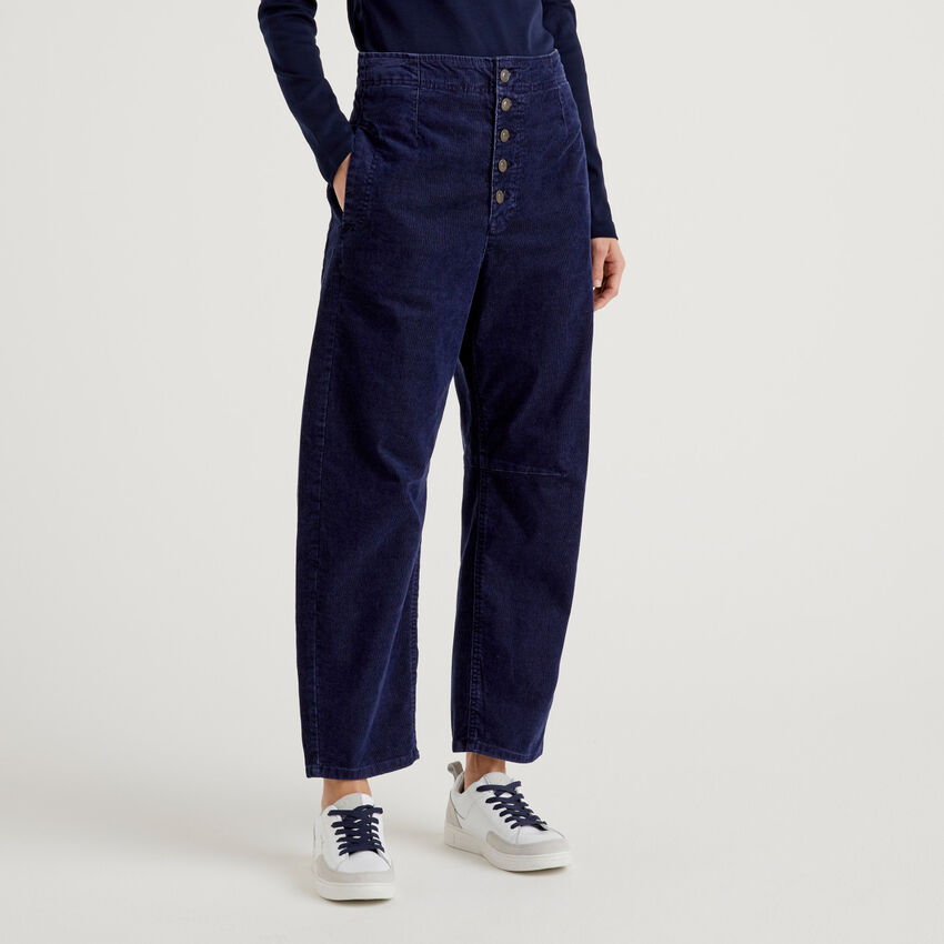 Pantalon slouchy en velours côtelé