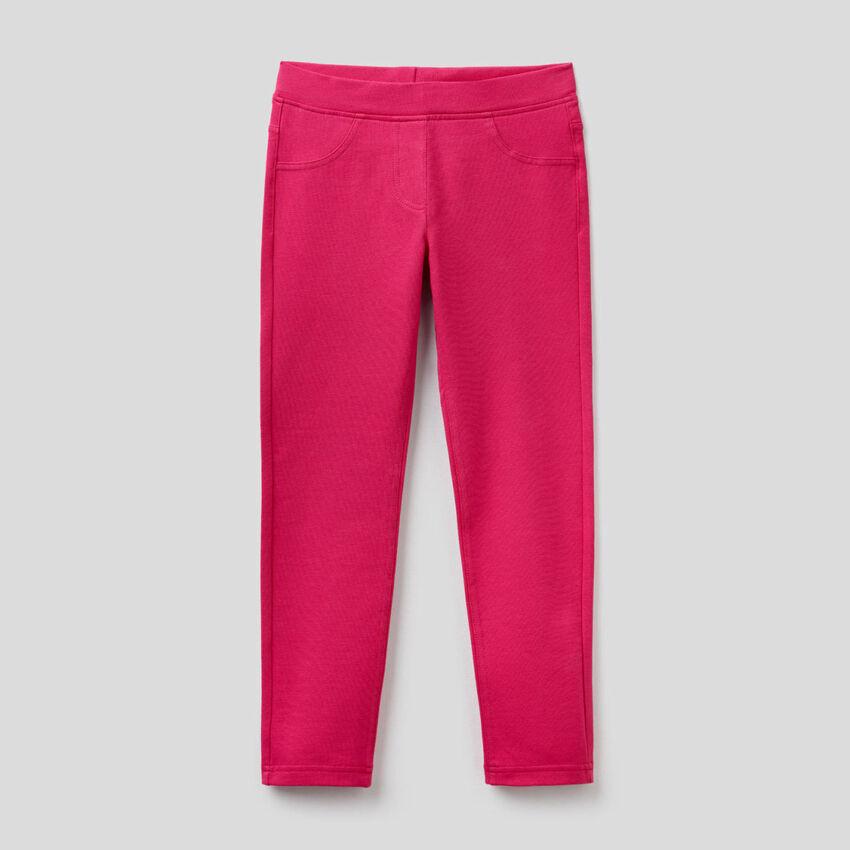 Pantaloni super skinny in felpa