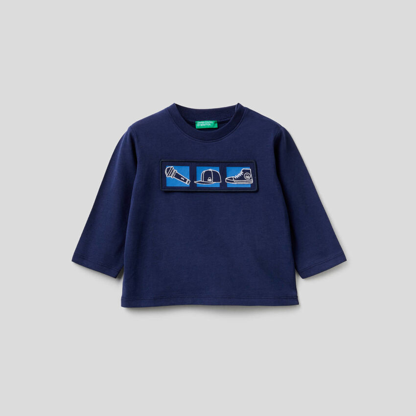 T-shirt en coton bio avec application