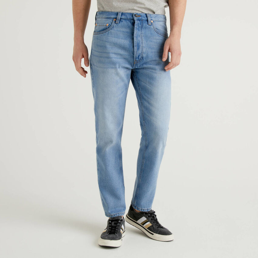 Jeans cinq poches 100% coton